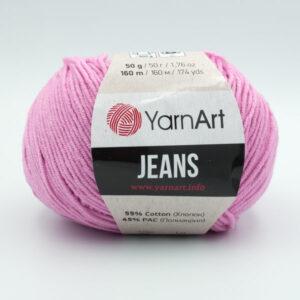 Пряжа YarnArt Jeans 20 розово-сиреневый