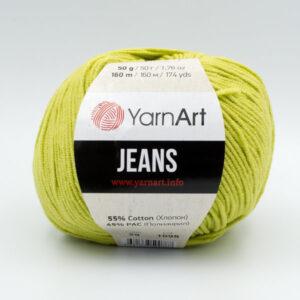 Пряжа YarnArt Jeans 29 светло-оливковый
