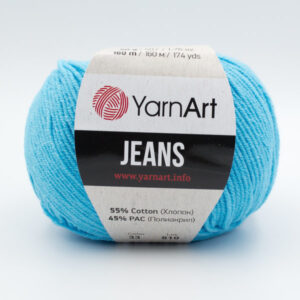 Пряжа YarnArt Jeans 33 голубая бирюза