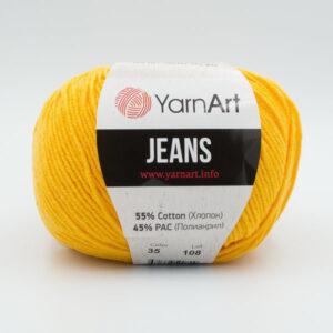 Пряжа YarnArt Jeans 35 желтый