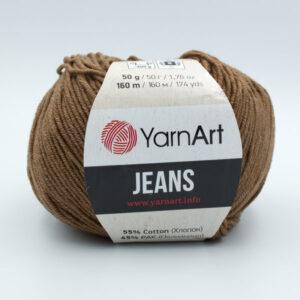 Пряжа YarnArt Jeans 40 коричневый
