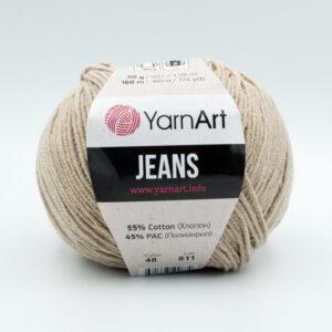 Пряжа YarnArt Jeans 48 бежевый