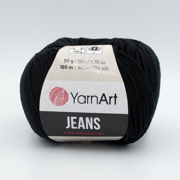 Пряжа YarnArt Jeans 53 черный