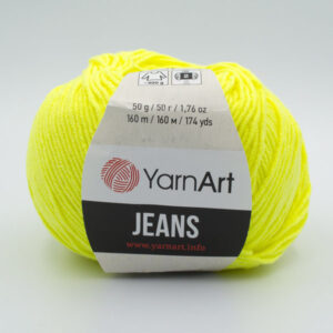 Пряжа YarnArt Jeans 58 неоновый желтый