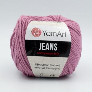Пряжа YarnArt Jeans 65 сухая роза