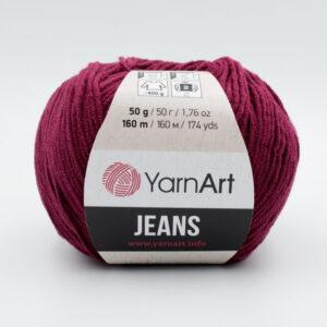Пряжа YarnArt Jeans 66 вишневый