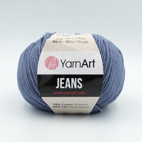 Пряжа YarnArt Jeans 68 джинсовый