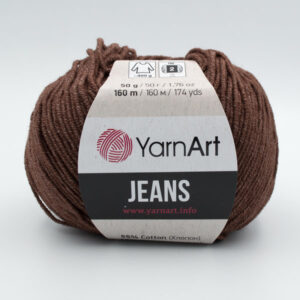 Пряжа YarnArt Jeans 70 коричневый