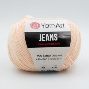 Пряжа YarnArt Jeans 73 пастельный персиковый