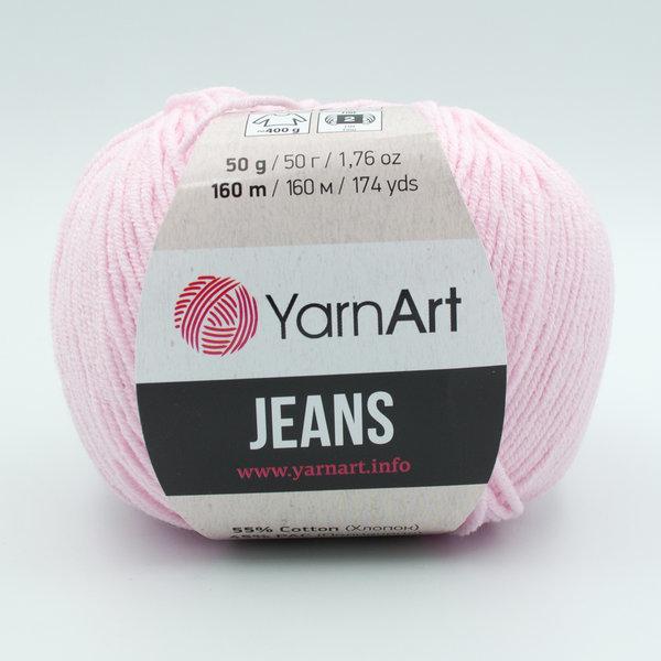 Пряжа YarnArt Jeans 74 нежно-розовый
