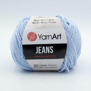 Пряжа YarnArt Jeans 75 светло-голубой