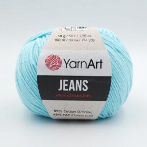 Пряжа YarnArt Jeans 76 нежная бирюза