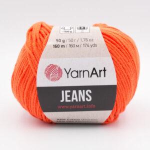 Пряжа YarnArt Jeans 77 ярко-оранжевый