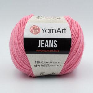 Пряжа YarnArt Jeans 78 розовый