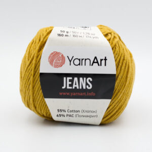 Пряжа YarnArt Jeans 84 горчичный