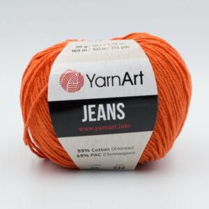 Пряжа YarnArt Jeans 85 рыжий