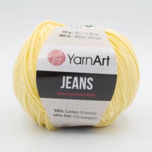 Пряжа YarnArt Jeans 88 бледно-желтый