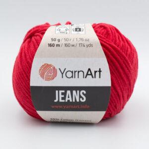 Пряжа YarnArt Jeans 90 красный