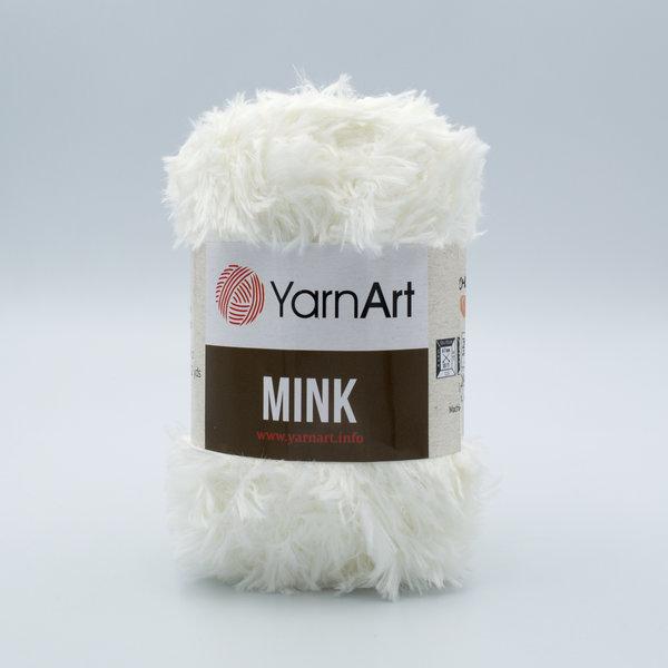 Пряжа YarnArt Mink 330 молочный