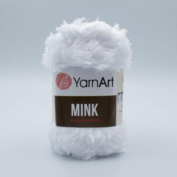 Пряжа YarnArt Mink 345 белый