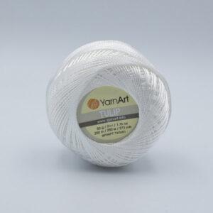 Пряжа YarnArt Tulip 401 белый