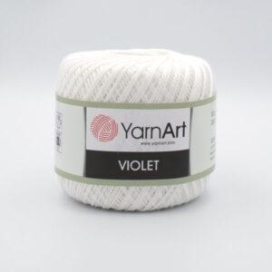 Пряжа YarnArt Violet 1000 белый