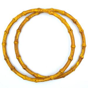 Комплект ручек пластиковых круглых бамбук 20 см охра