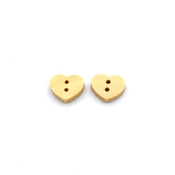Пуговица деревянная сердце 13 мм