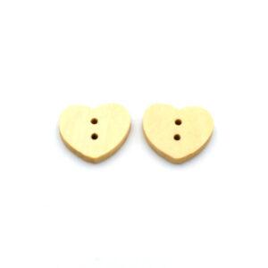 Пуговица деревянная сердце 17 мм
