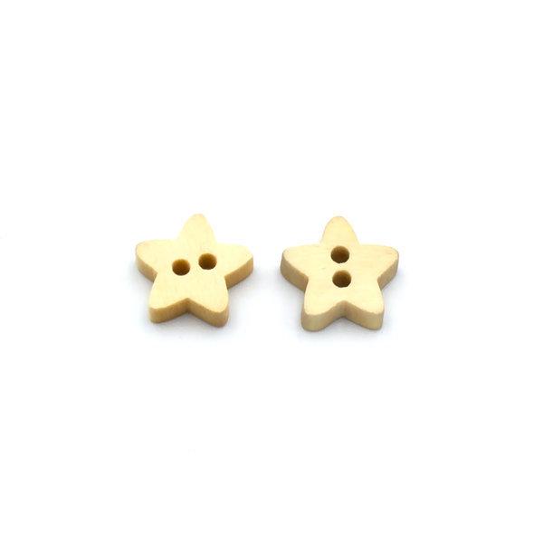 Пуговица деревянная звезда 13 мм