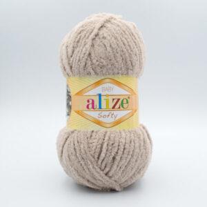 Пряжа плюшевая Alize Softy 115 бежевый