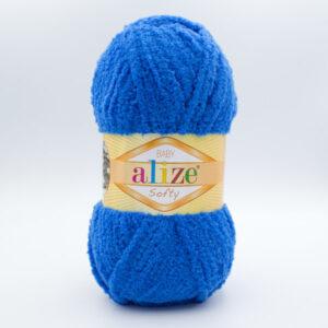 Пряжа плюшевая Alize Softy 141 синий