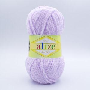 Пряжа плюшевая Alize Softy 146 светлая лаванда