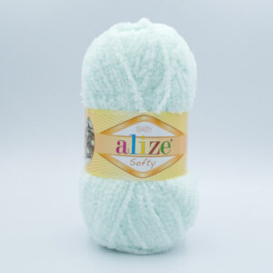Пряжа плюшевая Alize Softy 15 светлая мята