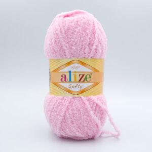 Пряжа плюшевая Alize Softy 185 нежно-розовый