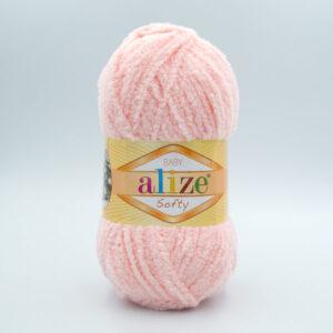 Пряжа плюшевая Alize Softy 340 нежный персик