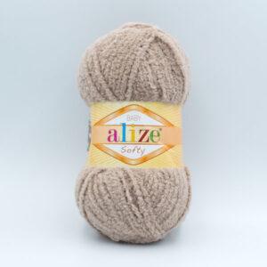 Пряжа плюшевая Alize Softy 617 бежевый