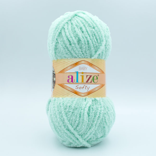 Пряжа плюшевая Alize Softy 669 мята
