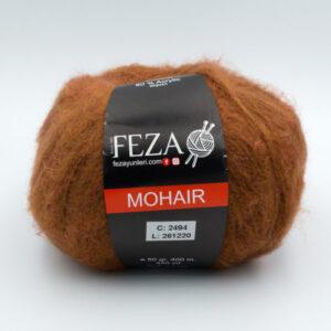 Пряжа Feza Mohair 2494 коричневый