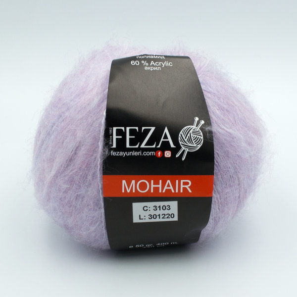 Пряжа Feza Mohair 3103 нежно-сиреневый