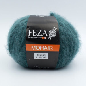 Пряжа Feza Mohair 3104 темно-зеленый