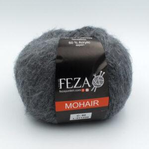 Пряжа Feza Mohair 50 темно-серый