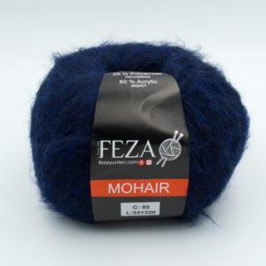 Пряжа Feza Mohair 83 темно-синий