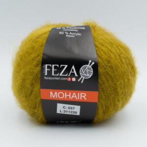 Пряжа Feza Mohair 837 горчичный
