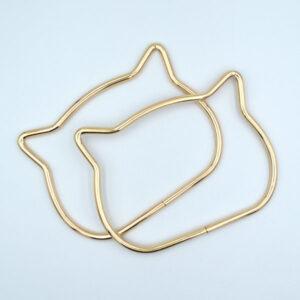 Комплект ручек металлических Кошка золото