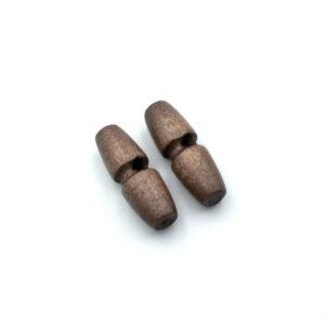 Пуговица бочонок 30 мм серо-коричневая