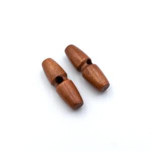Пуговица бочонок 35 мм красно-коричневая