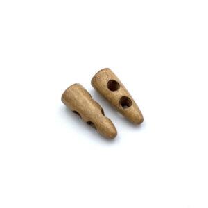 Пуговица деревянная рог 30 мм бежевая