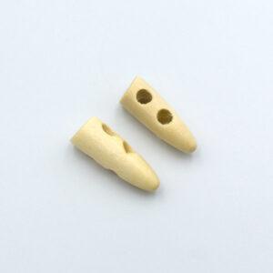 Пуговица деревянная рог 30 мм молочная