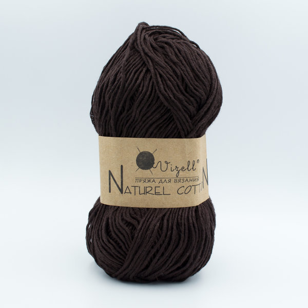 Пряжа Vizell Naturel Cotton шоколад